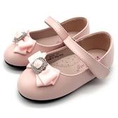 《7+1童鞋》方鑽 氣質蝴蝶結 娃娃鞋 公主鞋 D643 粉色