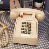家用電話按鍵電話機創意仿古辦公電話固話座機家用復古電話金屬鈴 爾碩數位3c