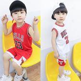 兒童籃球服套裝男童女童寶寶球衣中小童兩件套男夏季幼兒園錶演服   初見居家
