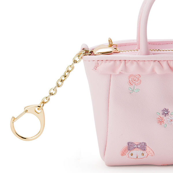 【震撼精品百貨】My Melody 美樂蒂~袋型鑰匙圈-玫瑰