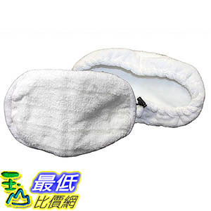 [106美國直購] 2 Bissell Washable, Reusable Steam Replacement Microfiber Mop Pads Fit Bissell Steam Mop model 1867