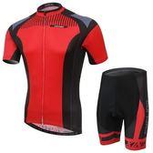 自行車衣-(短袖套裝)-舒適透氣戶外防曬男單車服套裝73er21【時尚巴黎】