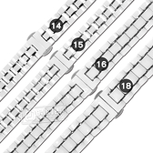 Watchband / 14.15.16.18 mm / 各品牌通用 亮麗陶瓷 快拆錶耳 蝴蝶扣 陶瓷錶帶 白色 #836-52-WESR