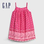 Gap嬰兒活力花卉印花吊帶洋裝(含尿布套)580545-櫻紅色