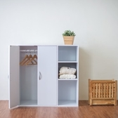 【Hopma】二門三格組合式衣櫃/衣櫥/櫃子-時尚白
