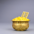 風水純銅聚寶盆擺件 招財聚財家居香爐工藝品開運裝飾品旺財禮品 樂活生活館