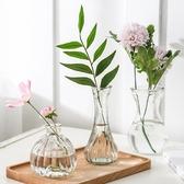 花瓶 水培創意玻璃花瓶水仙花植物水培容器插花瓶綠蘿透明花盆風信子瓶【快速出貨】