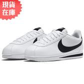 【現貨】NIKE Classic Cortez Leather 男鞋 女鞋 阿甘 休閒 皮革 白 黑 【運動世界】807471-101