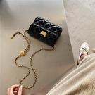 小方包 啊澀轉運珠斜挎手機包黑色單肩小香風鏈條包胸包女新款腰包潮 限時折扣