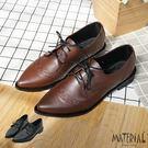 包鞋 雕花綁帶尖頭包鞋 MA女鞋 T20...