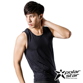 PolarStar 男 排汗快乾寬肩背心『黑』 P17139 台灣製造 吸濕排汗背心 運動背心 男生內衣 散熱背心