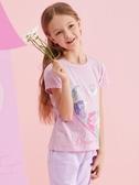 童裝2020年春夏新款女童短袖t恤圓領兒童半袖上衣1 童趣屋