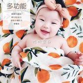 嬰兒裹布 薄款竹纖維雙層紗布裹布新生兒包巾嬰兒床單寶寶浴巾 珍妮寶貝