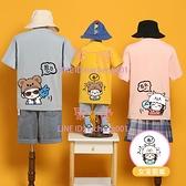 特別的親子裝夏裝母女母子夏款高端夏季親子短袖T恤【聚可愛】