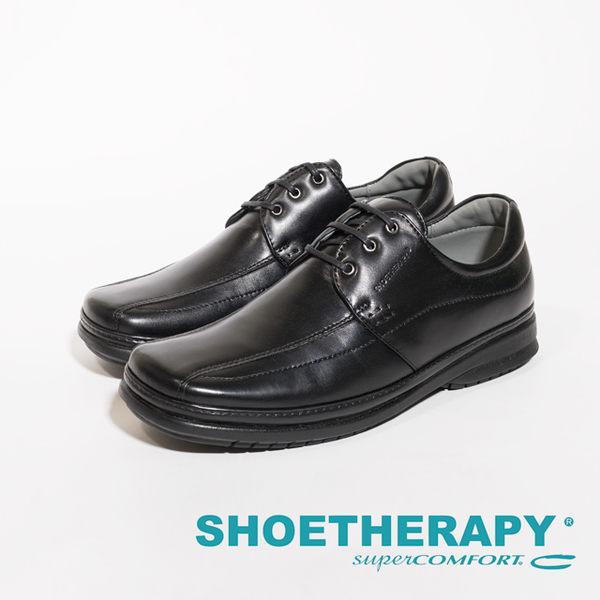 SAPATOTERAPIA 巴西超輕量綁帶型男皮鞋-黑