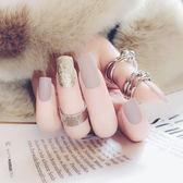 【熊貓】穿戴美甲成品甲片可穿戴拆卸成人磨砂假指甲