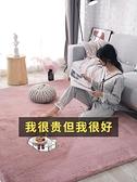 地毯客廳茶幾毯簡約現代滿鋪房間床邊毯仿兔毛加厚長毛地毯臥室