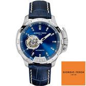 GIORGIO FEDON 1919 沛納海款 大錶面藍色深藍皮帶機械錶 GFBG009 45mm 公司貨 | 名人鐘錶高雄門市