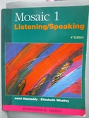 【書寶二手書T4/語言學習_ZAD】Mosaic 1. Listening_speaking / Jami Hanred