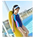 兒童專業連身游泳衣 女童速干學游泳中小童女寶寶女孩泳裝 依夏嚴選