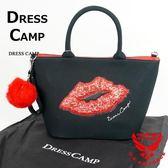 Dress Camp X土屋安娜 合作款 亮片紅唇手提包 DSL-5001 黑【JE精品美妝】