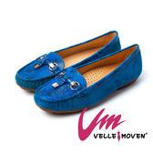 樂福鞋 懶人鞋 Velle Moven 輕時尚 羊麂皮 樂福鞋_亮麗藍
