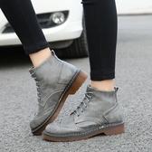 秋冬季英倫馬丁靴 平底短靴厚底大碼靴《小師妹》sm787