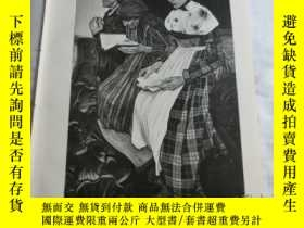 二手書博民逛書店【罕見】1883年木刻版畫《在教堂》(Jn der Kirche