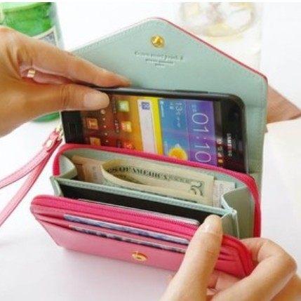 ►皮夾 多功能 零錢包 手機包 卡包 (可選色)【D1024】