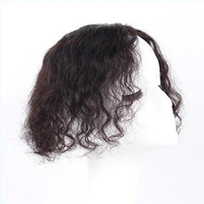 假髮片(真髮絲)-25cm捲髮補髮塊透氣女假髮2色73us16[時尚巴黎]