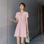 洋裝 夏裝2020新款格子洋裝女時尚休閒小個子裙子名媛公主裙 a字短裙 中秋節