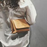 斜肩包 森系復古小包包時尚斜挎包鍊條單肩包 新年鉅惠