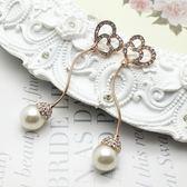 耳環 玫瑰金 925純銀鑲鑽-鏤空愛心生日情人節禮物女飾品2色73gs166【時尚巴黎】