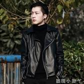 男裝春秋季外套潮流2020新款皮衣男士韓版修身上衣青年時尚皮夾克 蘿莉小腳丫