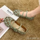涼鞋 夏季鏤空單鞋女舒適軟底護士鞋洞洞涼鞋仙女風休閒舒適平底豆豆鞋 俏俏家居