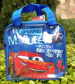 【卡漫城】 Cars 便當袋 藍 ㊣版 手提袋 拉鍊式 餐袋 汽車總動員 閃電麥坤 Mcquee 賽車