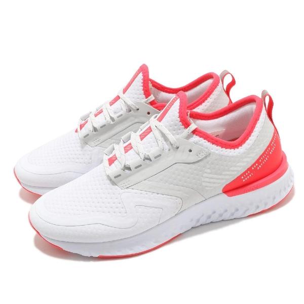 Nike 慢跑鞋 Wmns Odyssey React 2 Shield 白 紅 女鞋 防潑水 運動鞋 【ACS】 BQ1672-100