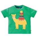 短袖上衣 英國 Frugi 有機棉 短袖上衣 棉T T恤 - 草綠駱駝 TTS809JGC