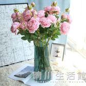 仿真玫瑰花束牡丹花假花擺件客廳裝飾家居擺設單支插花絹花塑料花 晴川生活館