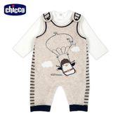 chicco-飛行企鵝系列-背心褲套裝-卡其