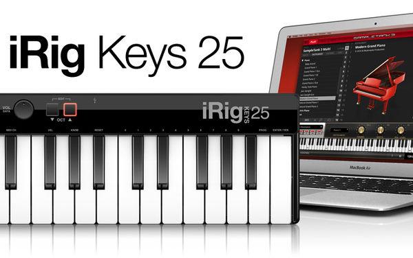 凱傑樂器 IK iRig The 25 mini-key USB MIDI controller for Mac/PC (海國原廠540天保固)