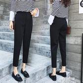 西裝褲哈倫褲子女夏新款韓版寬鬆直筒休閒褲百搭顯瘦西裝小腳九分褲  朵拉朵衣櫥