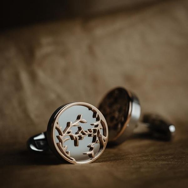 袖釦 Cufflinks法式鋼色袖扣男士商務休閒襯衣輕奢袖口釘-快速出貨