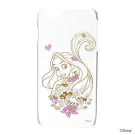 【漢博商城】iJacket Disney iPhone 6 Plus 金箔押透明硬式保護殼 - 長髮公主