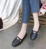 豆豆鞋單鞋女春夏季韓版平底豆豆鞋方頭百搭休閒復古新款奶奶鞋 伊蒂斯女裝