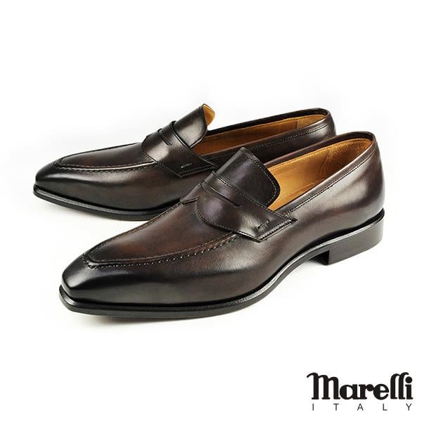 【Marelli】質感手工樂福紳士鞋 深咖(M3003-MOR)