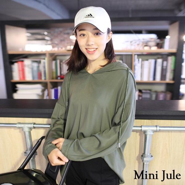 ☆現貨☆上衣 V領寬鬆連帽長袖上衣(共2色) 小豬兒 Mini Jule  【SHA82001077】。