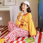 睡衣女春秋季薄款秋冬天長袖學生韓版清新家居服套裝棉綢可愛卡通新品