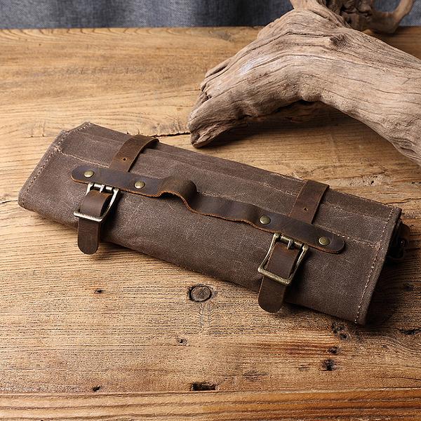 【Solomon 原創設計皮件】帆布皮格工具包   多功能機能收納包 五金收納 文具收納