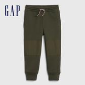 Gap男幼童 簡約風格純色鬆緊長褲 618338-軍綠